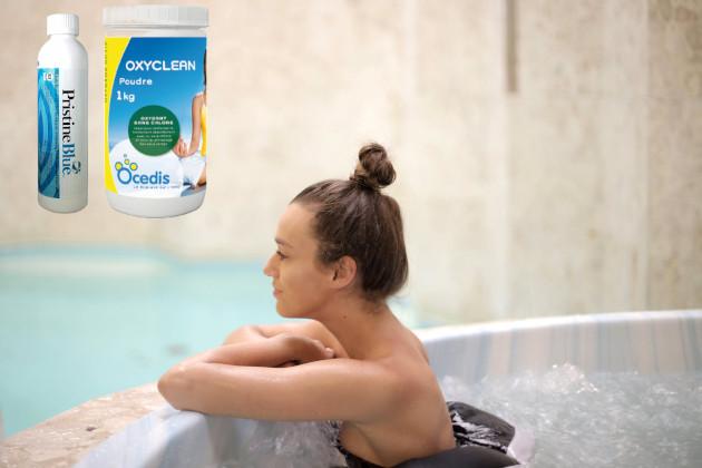 Kubilų, masažinių vonių priežiūros be chloro mini rinkinys